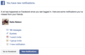 FB notifications