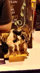 Yes. Those are squirrels drinking.