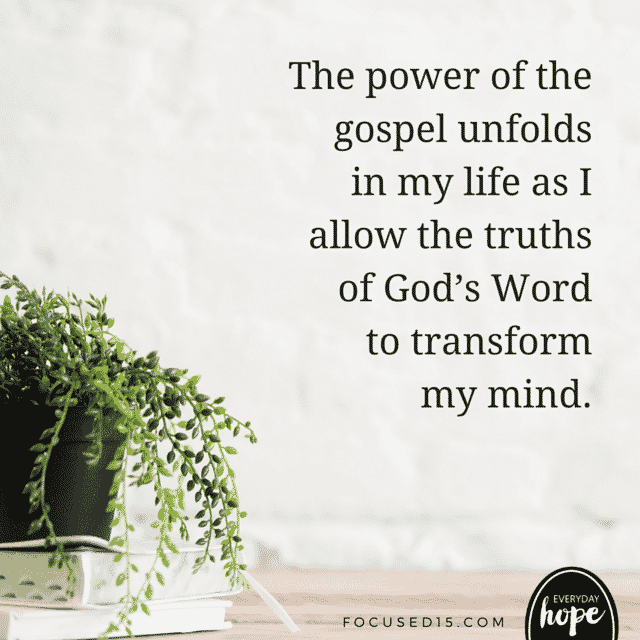 the power of the Gospel unfolds