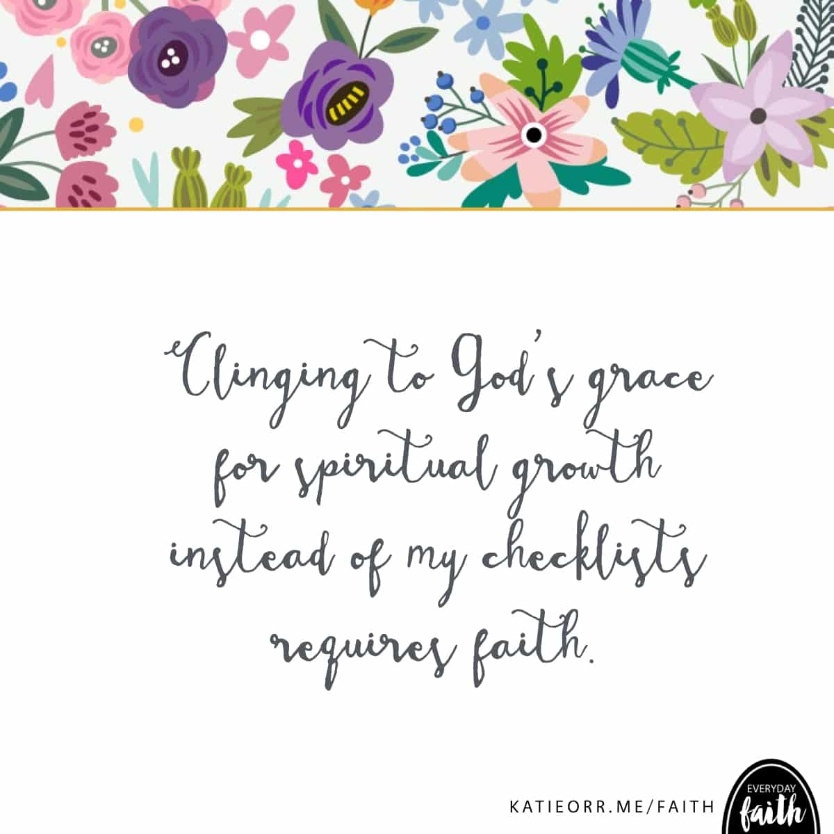 clinging to grace requires faith