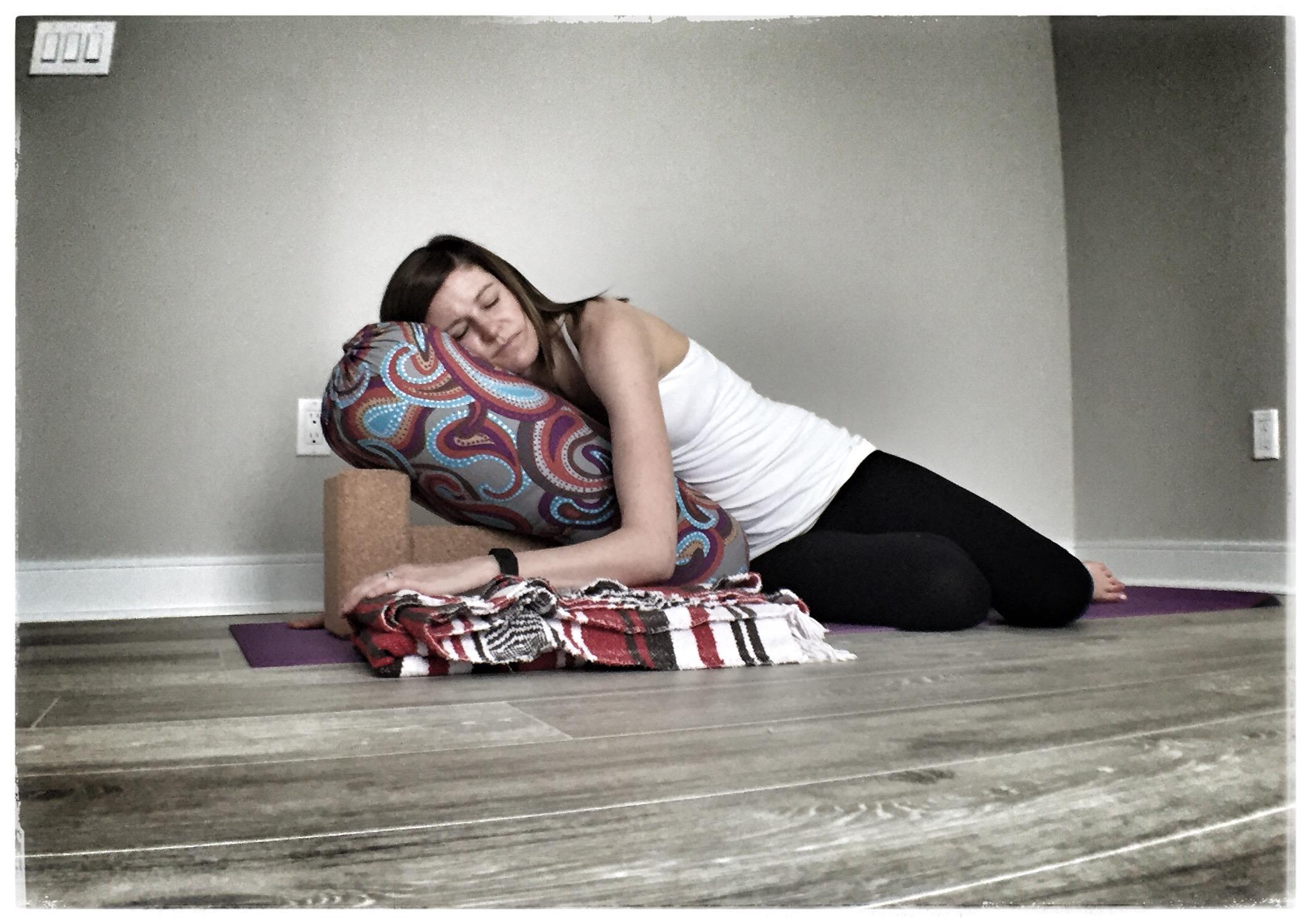 Restorative Yoga Pose of the Week u2013 Reclining Twist  sc 1 st  Katie Overcash LCSW/RYT200 u2013 Charlotte NC & Restorative Yoga Pose of the Week u2013 Reclining Twist   Katie ... islam-shia.org