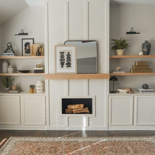Beaty Family Faux Fireplace