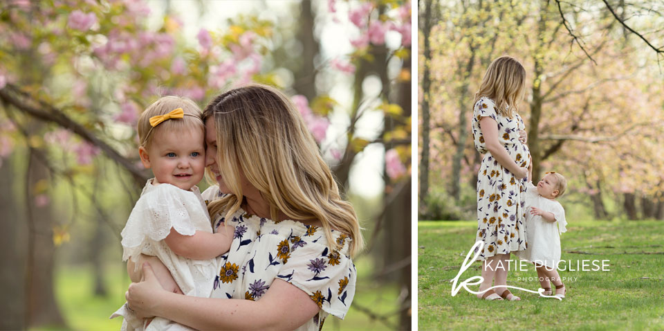 Mommy and Daughter Maternity Photo