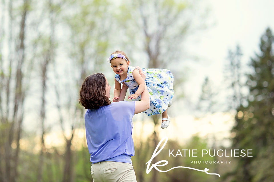 Mother and toddler girl photo session