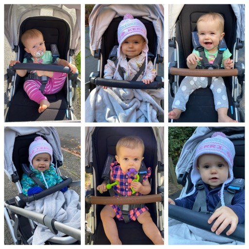 year end recap 2020 - collage of girl in stroller 6 pictures