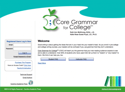 Core Grammar for College Home Page
