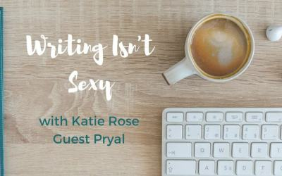 "New column for Katie: ""Writing Isn't Sexy: Dog Poop and All"""