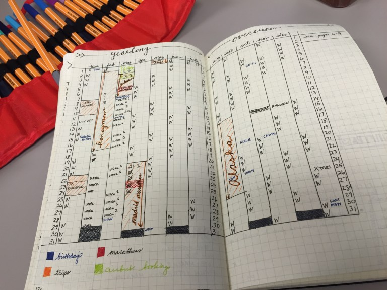 Bullet Journal Schedule