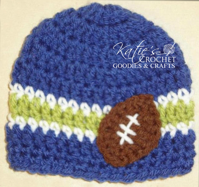 Free Football Fan Hat Pattern - Katie\'s Crochet Goodies
