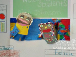 DIY Puppet Show using Tri-fold Poster Board
