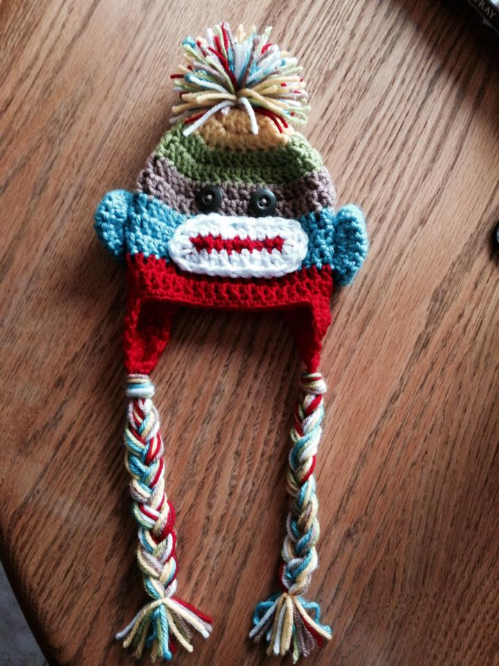 Sock Monkey Crochet Hat Pattern Sizes Newborn Small Adult Katies