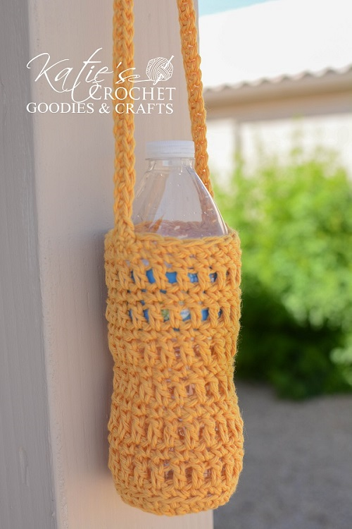 Water Bottle Cozy Crochet Pattern Katies Crochet Goodies
