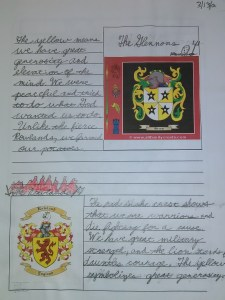 homeschool middle ages unit study coat of arms and ancestry