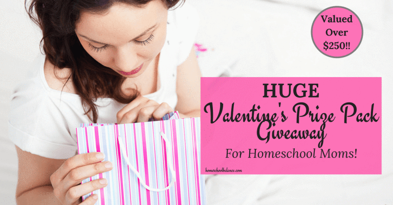 Valentines Prize Pack Giveaway for Homeschool Moms