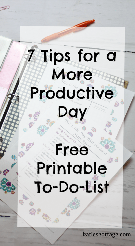 Have a more productive day using a to do list and these 7 tips.
