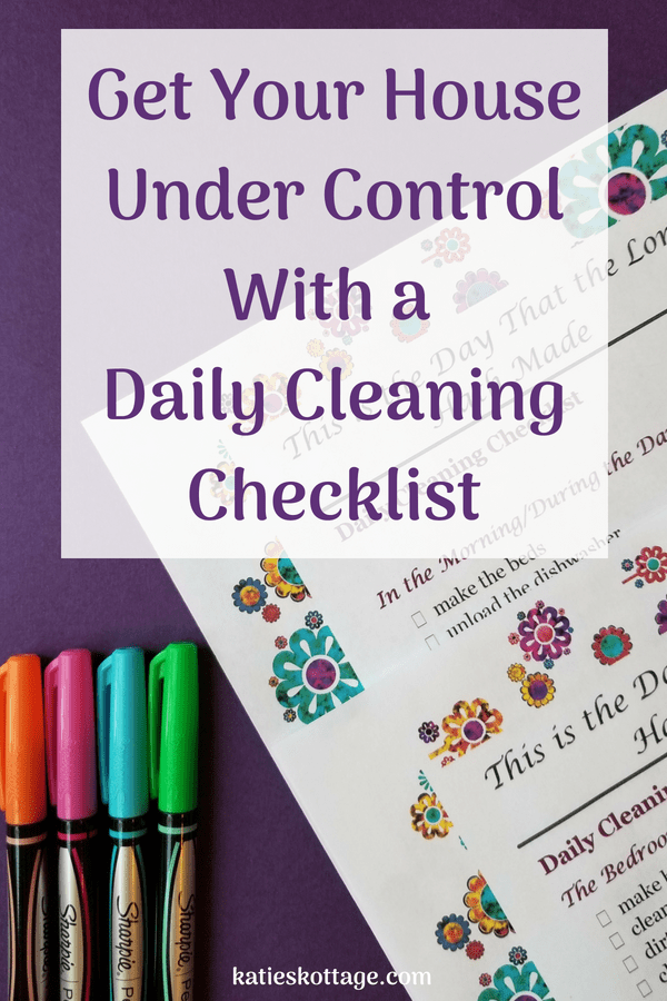 a daily cleaning checklist can simplify your life free printable