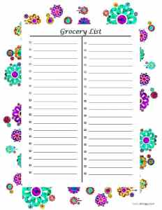 Grocery List. Weekly Menu. Meal Planning. Save time in the grocery store.