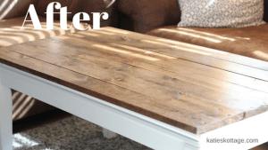 DIY farm house table after