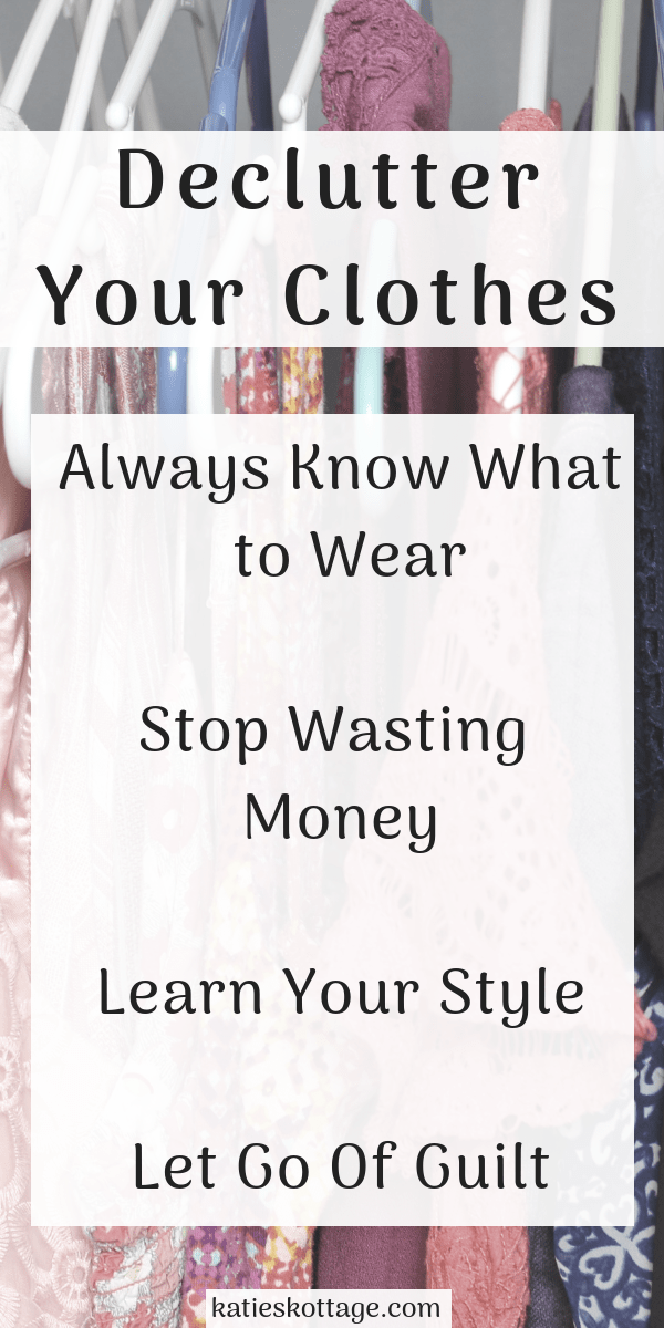 Tips for decluttering clothing and building a minimalist wardrobe. These closet organization ideas are life changing. #organization #minimalism #closetorganization #cleaningtips #declutter