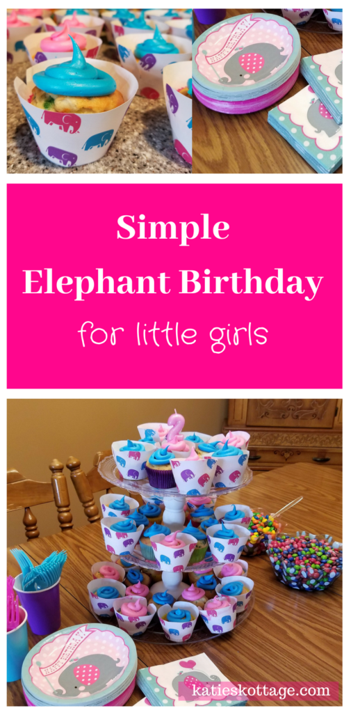 printable elephant cupcake wrappers for a girls birthday party