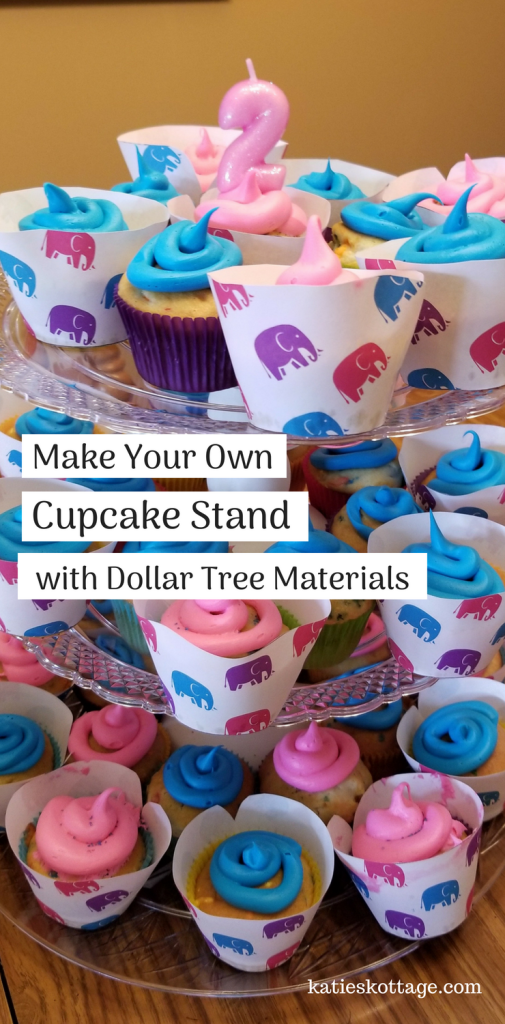 DIY Dollar Tree Cupcake Stand.