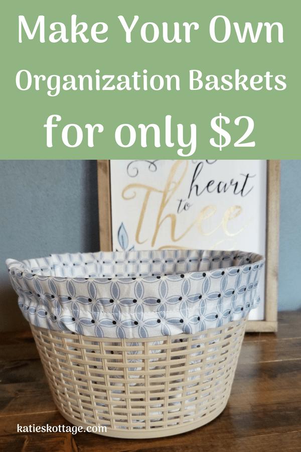 Dollar store organization ideas. DIY baskets #organizationideas #diy #dollarstorecrafts