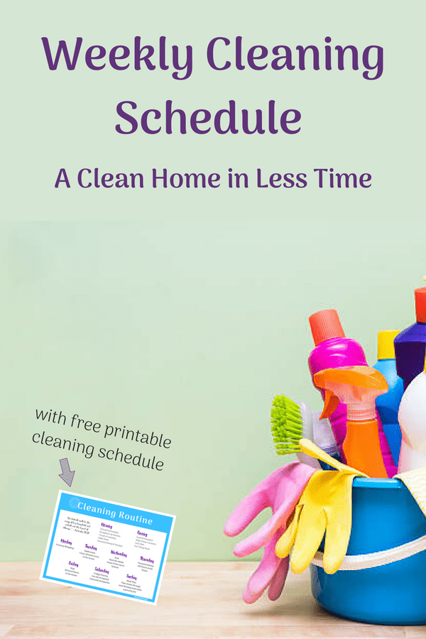 This weekly and daily cleaning routine will help working moms and stay at home moms stay on top of house work and have a clean home more often. This routine also includes a daily cleaning schedule. The free printable cleaning chart will help you stay on track. #cleaningtips #cleaningschedule #cleaningroutine #freeprintables