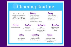 cleaning routine checklist katieskottage