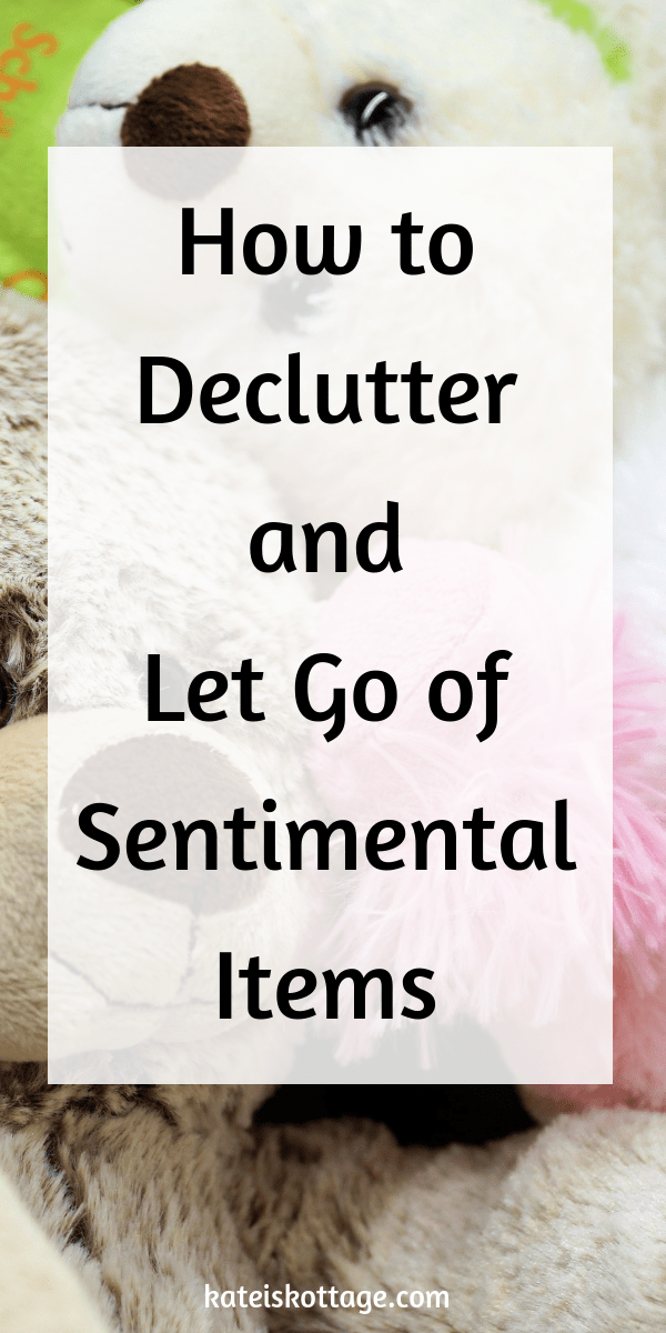 Tips to help you declutter sentimental items. How to tell the difference between true memories and emotional clutter. Let go of sentimental clutter and enjoy the benefits of living with less. #minimalism #organization #cleaningtips #tips #lifehacks #declutter