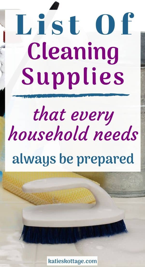 cleaning supplies ist