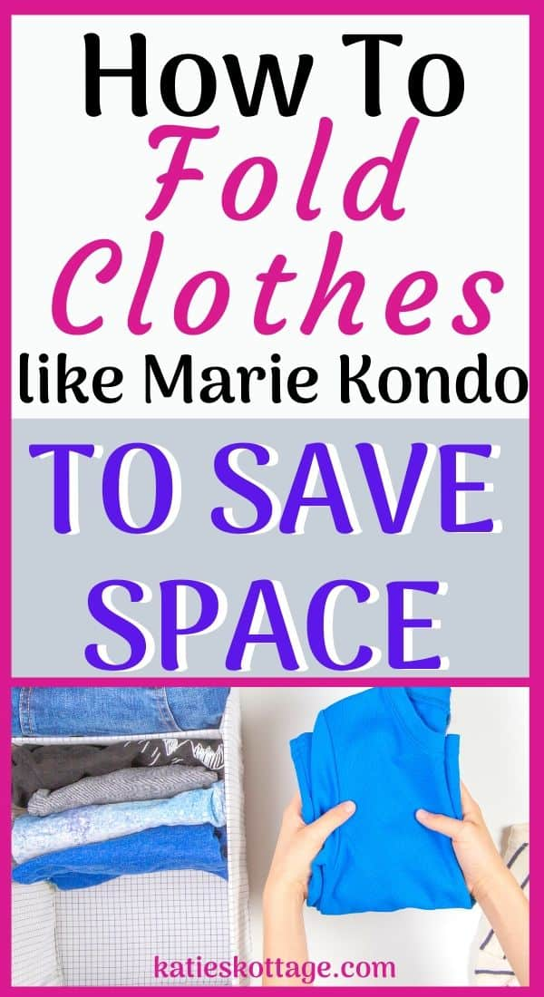 marie kondo folding clothes