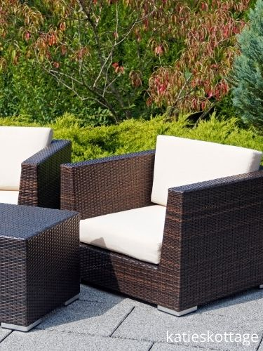 clean your outdoor furniture once a year