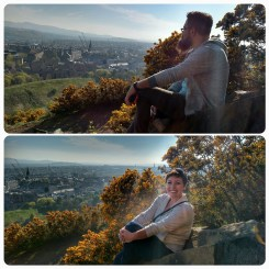 On Arthur's Seat, looking over Auld Reekie