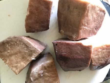 cooked taro