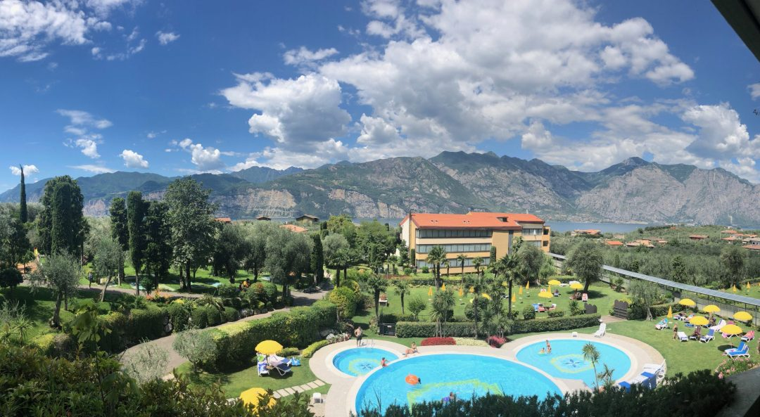 Our hotel room view in lake garda