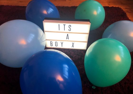 It's a boy pregnancy reveal.