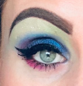 A Close Up Picture of my Eye with Eye Makeup