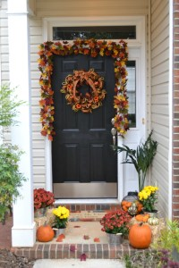 Decorate Your Front Door For Fall - Katie Talks Carolina