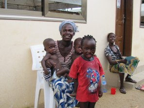 Samsu with his mama and Aniba and Alfan Kourou who we will also visit up north
