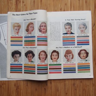 This is one of my favourite sections in the Simplicity Sewing Book: What's the best colour for your type? This is equal parts amazing and frustrating. What if you're an ash blonde with blue eyes? WHAT THEN??