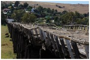 This is the amazing old wooden bridge at Gundagai. It seemed to stretch forever and I wonder what it was like driving on it just before it went out of use.