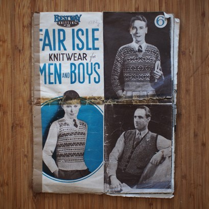 Fair Isle Knitwear for Men and Boys - an absolute treasure that I almost missed because of the way it had been shoved into a box.