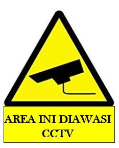 rambu area diawasi CCTV