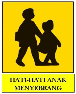 rambu peringatan anak menyeberang