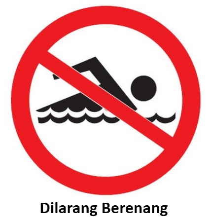 rambu k3 dilarang berenang
