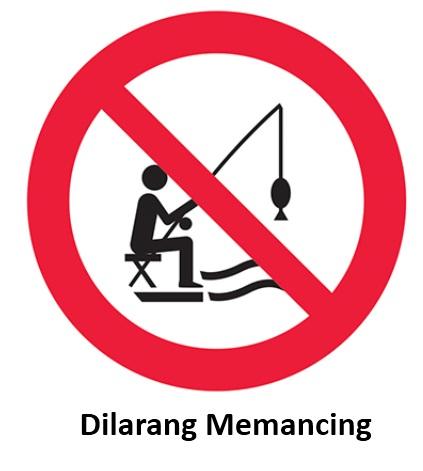 rambu dilarang memancing