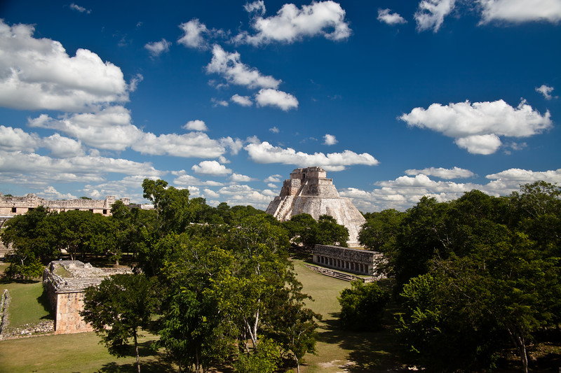 Gran Pyramid Uxmal, near Merida, Mexico. is one of the top Maya digs © 2010 Nick Katin