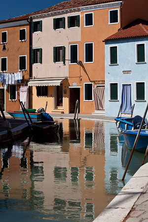 Burano, Venice Colourful canal houses in Burano © 2010 Nick Katin