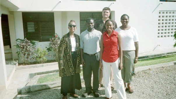 Our group with me, Richard, Nneka, and Dr. Ofori