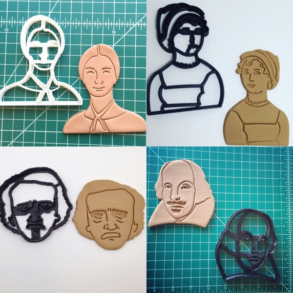 Literary Figures Cookie Cutter Set